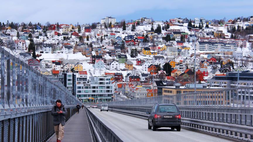 Tromsø - foto Pixabay. Troms har den største nedgangen i antall personer med betalingsvansker på landsbasis, etterfulgt av Oppland, Finnmark og Nordland.