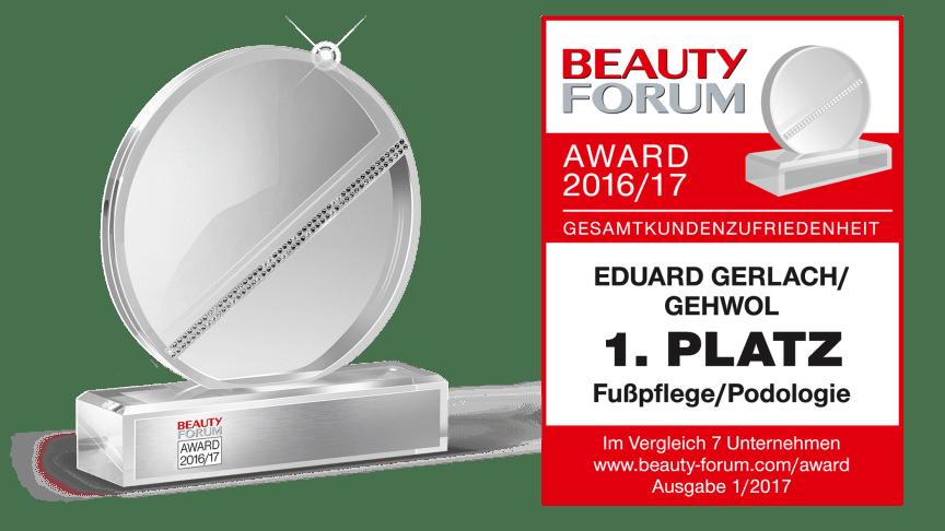 BEAUTY FORUM AWARD 2016/17: GEHWOL Nummer 1