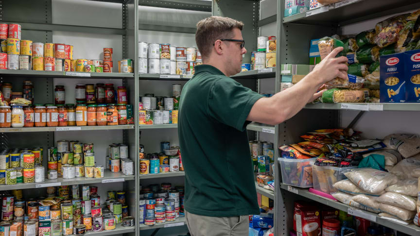 More adults are experiencing food insecurity during the COVID-19 pandemic, with some turning to food banks for support.
