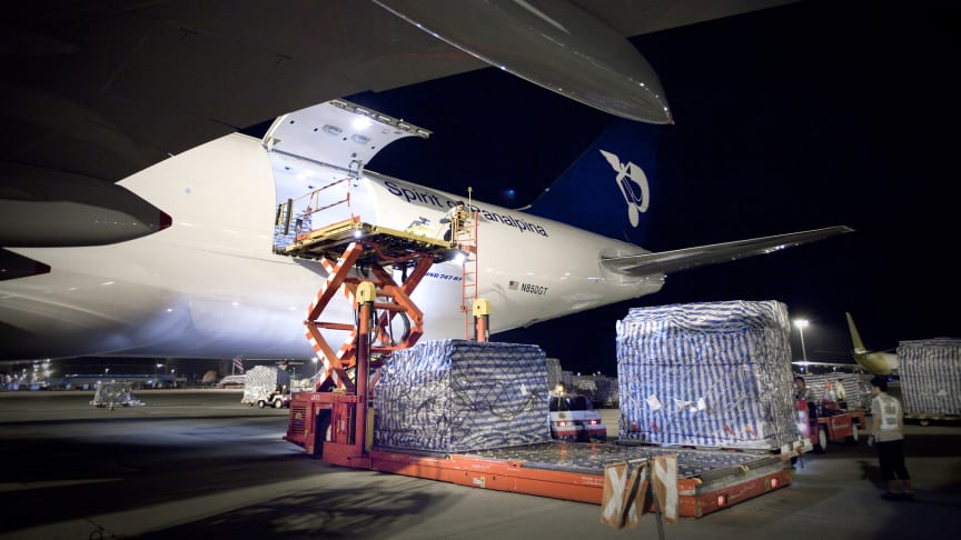 As 2018 draws to a close, Panalpina records its 1 millionth ton of Air Freight. (Photo from Panalpina)