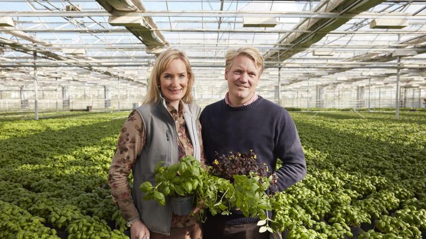 Anna och Daniel Bertland som i Kabbarp utanför Staffanstorp ska utveckla ett unikt skånskt besöksmål med inspirerande utställning av växthus och uterum.