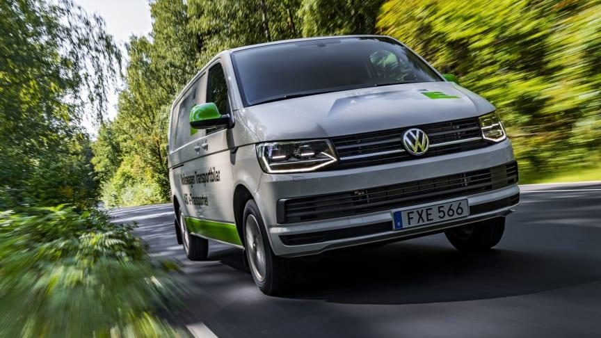 Volkswagen Transportbilar erbjuder sina kunder en laddlösning från Bee