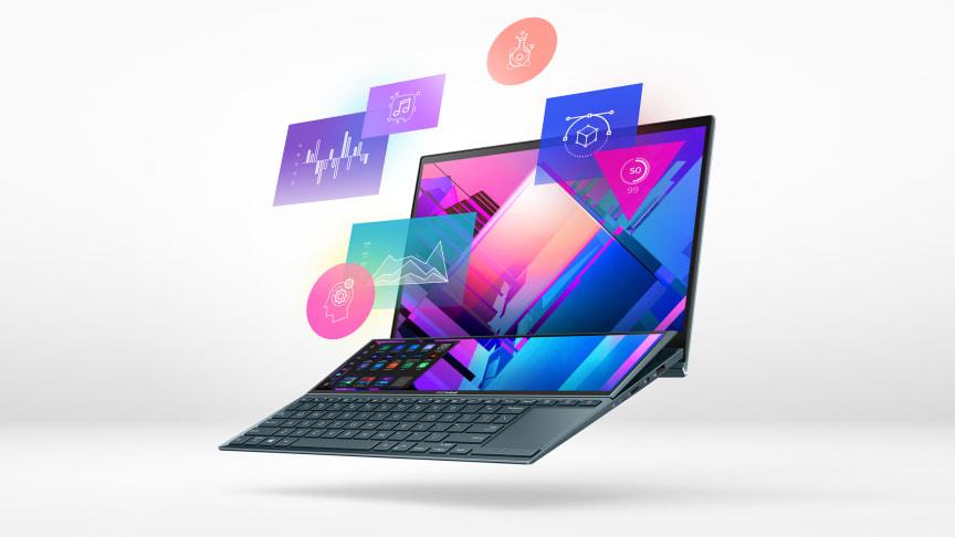 ZenBook Duo 14 med ScreenPad Plus, för alla som behöver mer utrymme