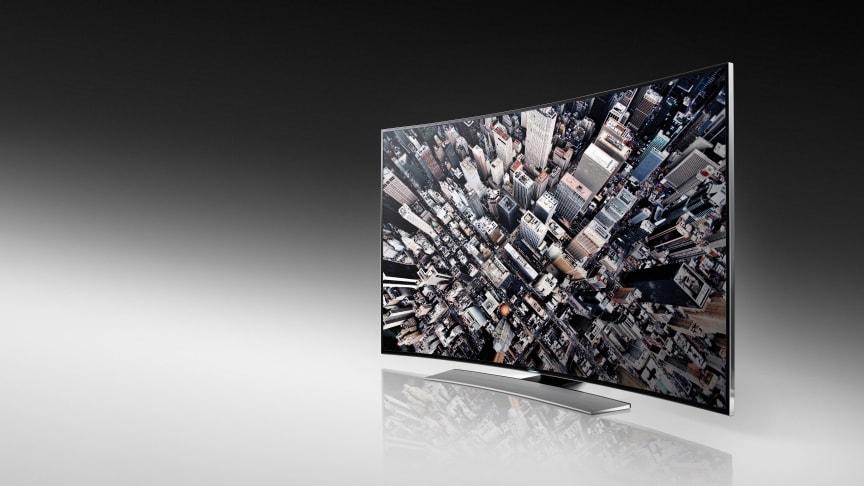CES 2014: Samsung fixar en selfie, tonsätter hemmet och böjer tv:n