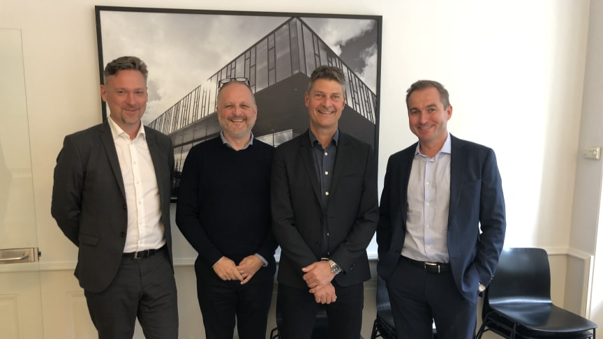 Fra venstre: Kaspar Bøgh Christensen, Morten Wesenberg, Lars Wörzner og Mads Rørdam