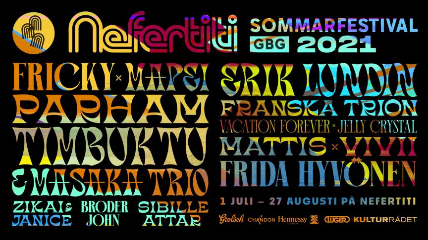 Mapei, Timbuktu & MASAKA Trio och Frida Hyvönen till Nefertitis festivalsommar