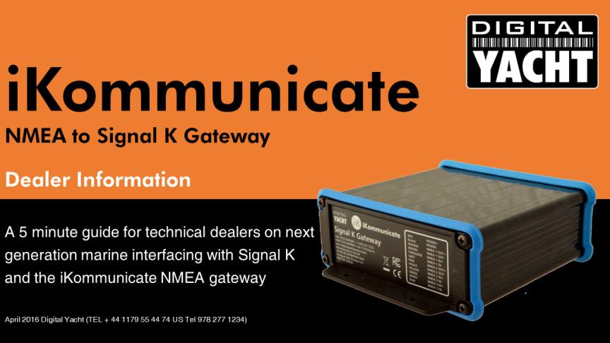 iKommunicate - Next Generation Marine Interfacing with Signal K and NMEA