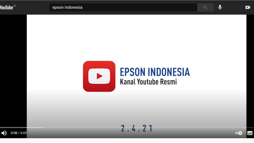 Epson Indonesia Resmi Luncurkan Kanal YouTube