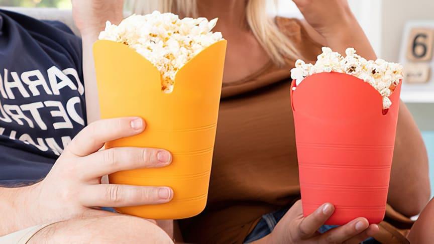 Popkornskål til mikroovnen – nå er filmkvelden reddet!