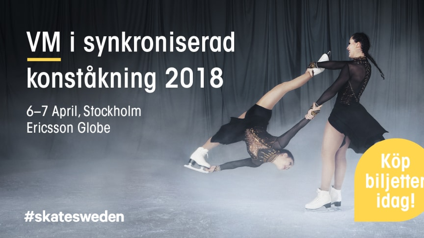 VM i synkroniserad konståkning 2018 – Stockholm, 6–7 april