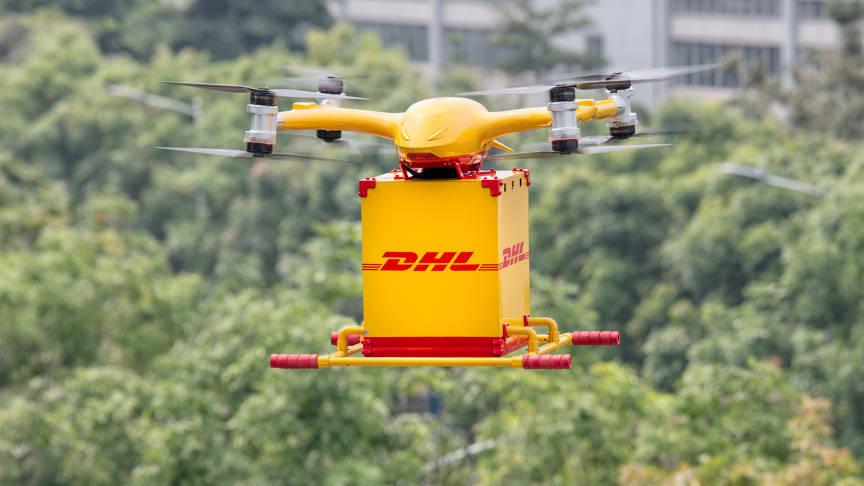 DHL Express lanserar leveransservice via drönare i Kina