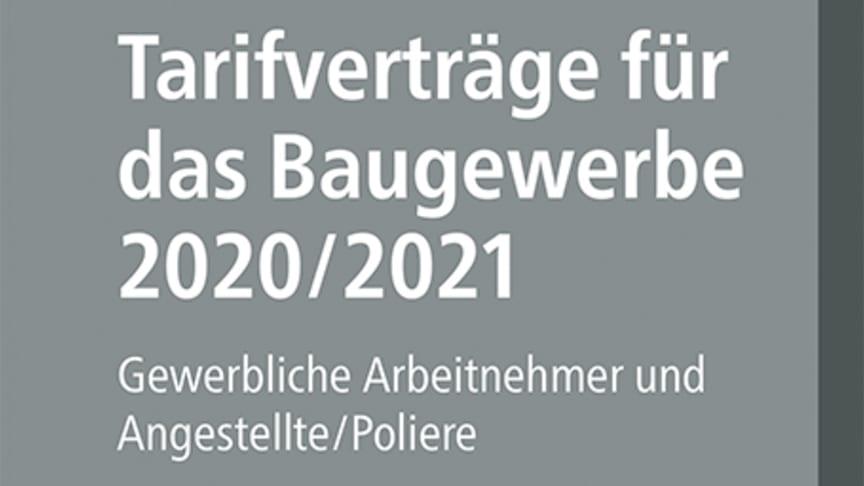 Tarifverträge für das Baugewerbe 2020/2021