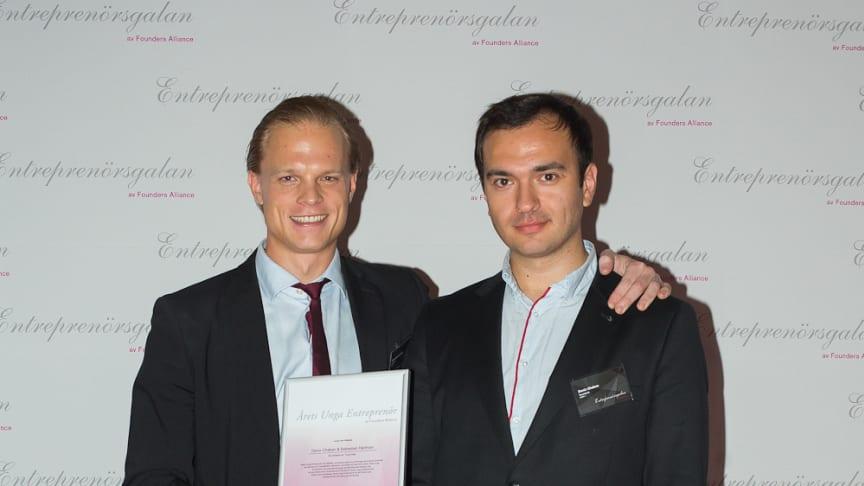 Utvecklingen av interaktiva teknologier gav grundarna av Touchtech titeln Årets Unga Entreprenör Sverige 2014