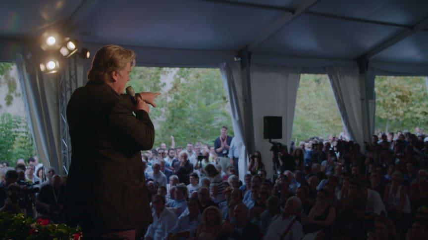 Donald Trumps tidligere rådgiver, Steve Bannon, kan opleves i den prisvindende dokumentar The Brink på C More fra 1. september.