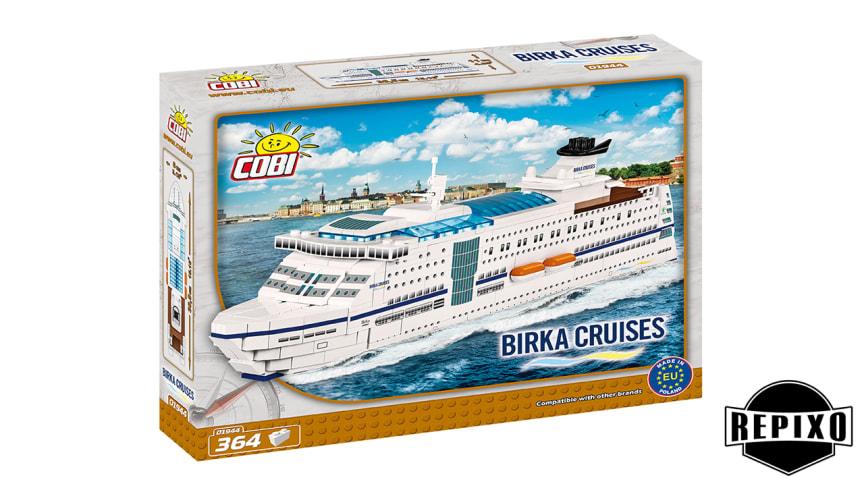 Konsumentförpackning med Cobis modell av Birka Cruises M/S Birka.