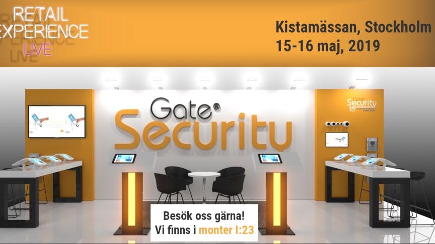 Gate Security kommer till Retail Experience Live 2019 på Kistamässan 15-16 maj