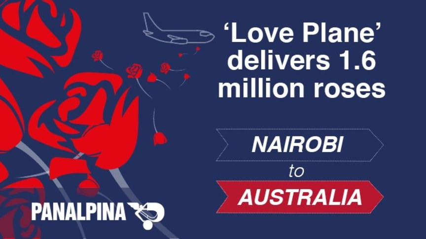From Kenya to Australia with love: Panalpina made it possible. (Illustration by Panalpina)