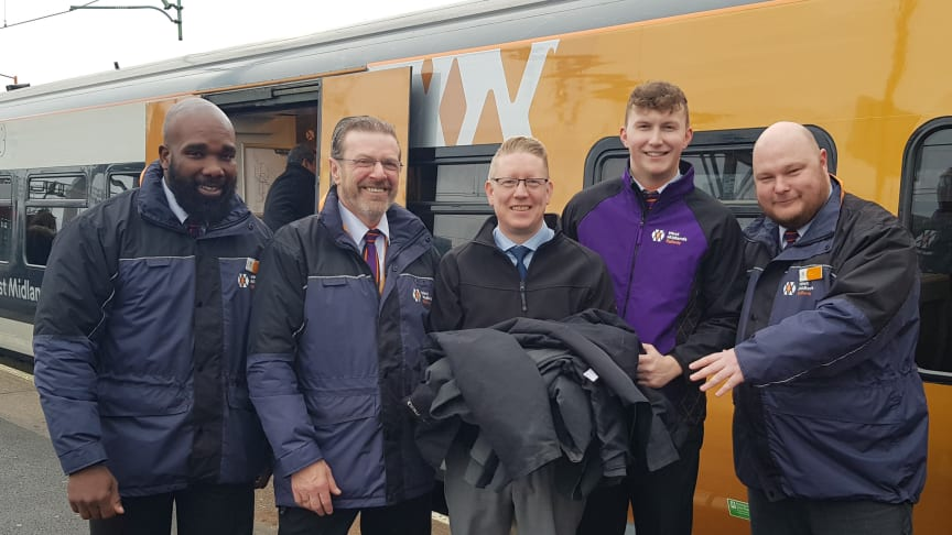 West Midlands Railway staff hand over uniforms to the Salvation Army