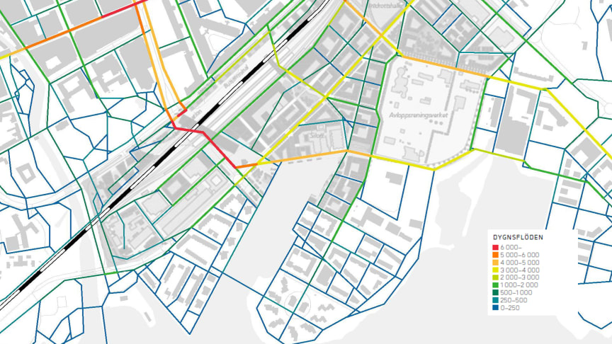En östra koppling förbi spåren har en viktig funktion för gående och cyklister