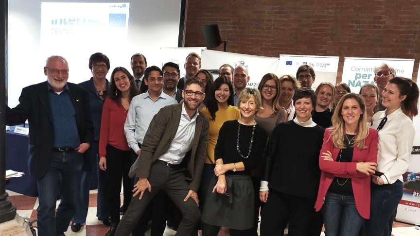 Projektkonsortium InterGree-Nodes beim Treffen in Venedig /Foto: Annika Schulze)