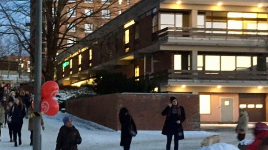 I dette bygget kommer SiO Athletica med et treningssenter på Kringsjå Studentby høsten 2018. (Foto: Astri Åmellom Brøto / SiO))