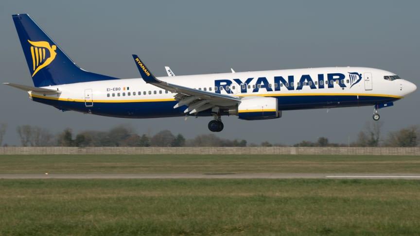 Ryanair startar en ny flyglinje till Kraków