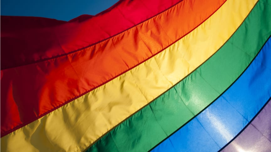 The Pride flag fills the frame. Royalty-free stock photo ID: 289525394.