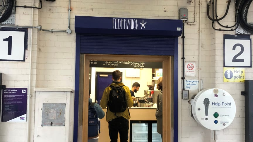 Federation Coffee has opened at Loughborough Junction station - more images available below