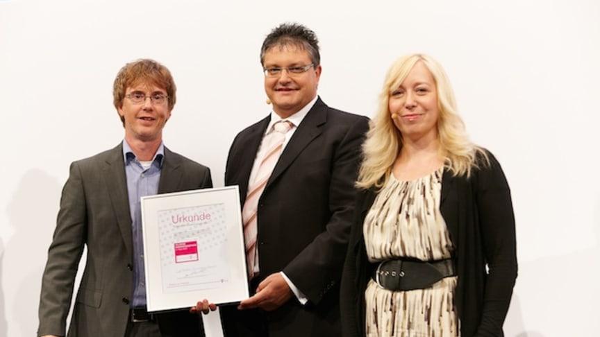 ePocket Handyman blev en av vinnarna i tyska Telekom's prestigefyllda innovationstävling samt valdes till bästa produkt av evenemangets publik.