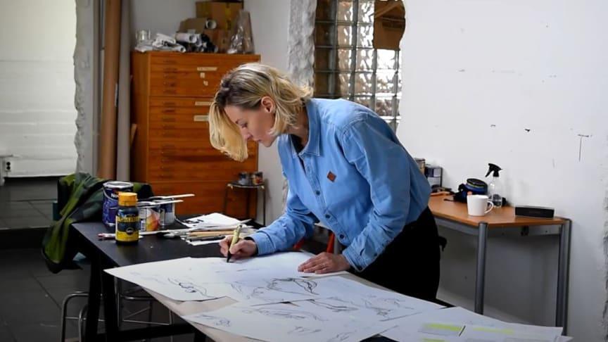 Amanda Mendiant har förberett sig väl inför residenset i Göteborg.   Foto: Stefan Larsson