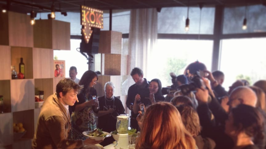 Pressträff idag med Jamie Oliver - en succé!