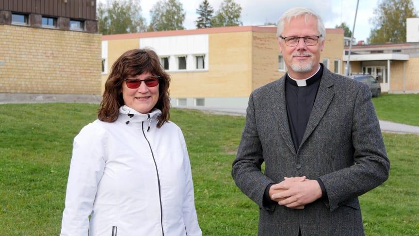 Ulrika Hurdén, skolchef i Kramfors kommun, och Peter Forsberg, kyrkoherde i Kramfors pastorat