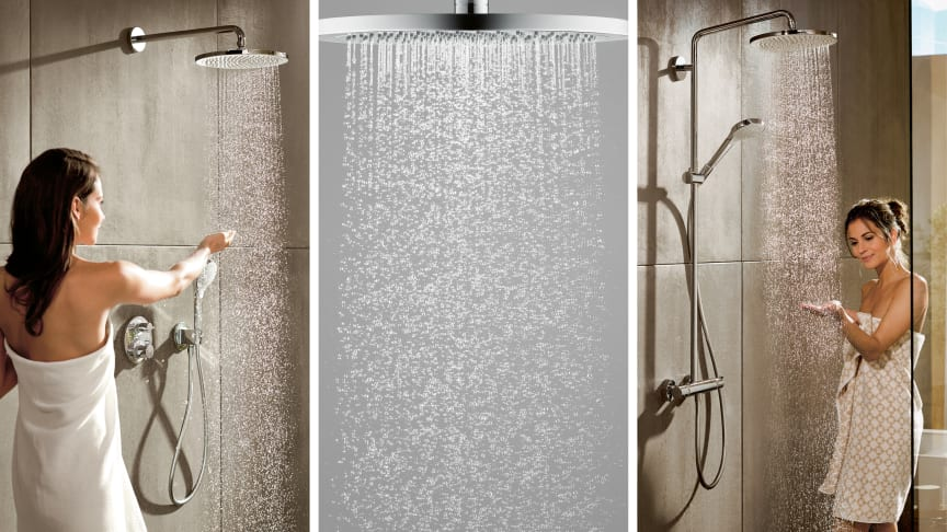 Tender loving care for your skin with the new hansgrohe Croma 280 range of showerheads.