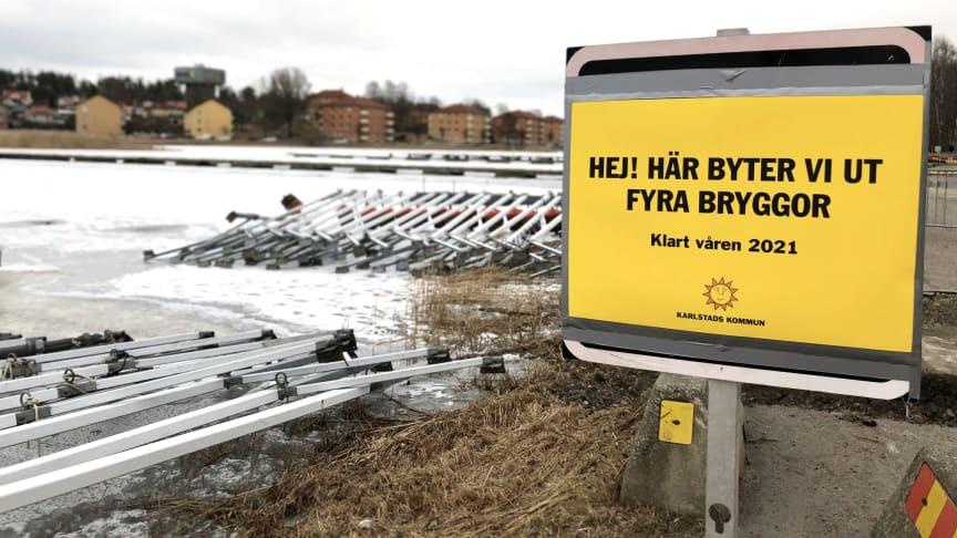 Bryggorna i Lambergstjärn ska bytas ut.