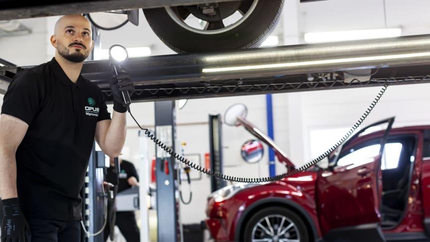 Opus Bilprovning, med 95 stationer över hela landet, kommer under nästa år även att kunna erbjuda mobil besiktning.