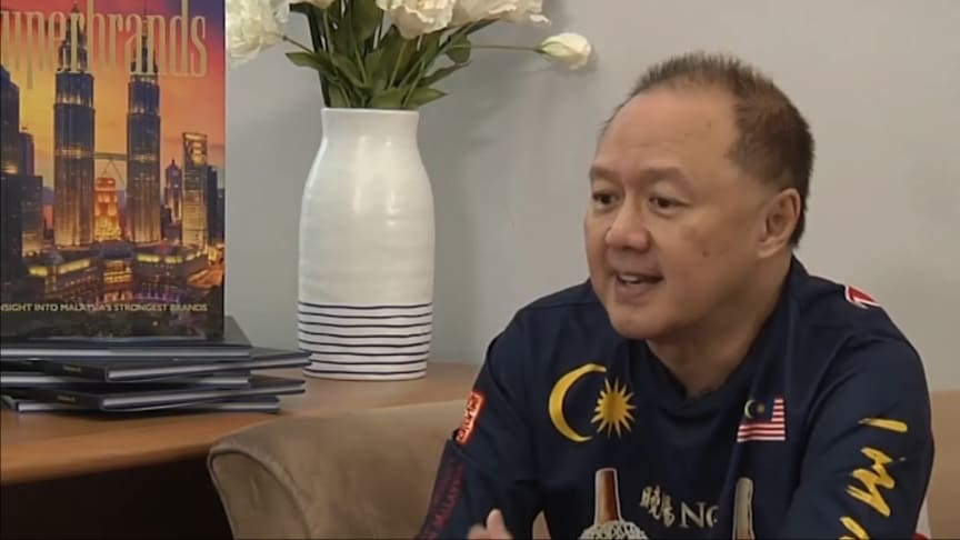 Screenshot of Aesos Lai ...including his colourful durian-themed shirt