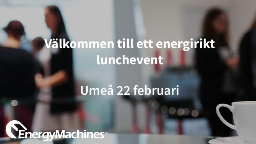 Anmäl dig till ett energirikt lunchevent - Umeå 22/2