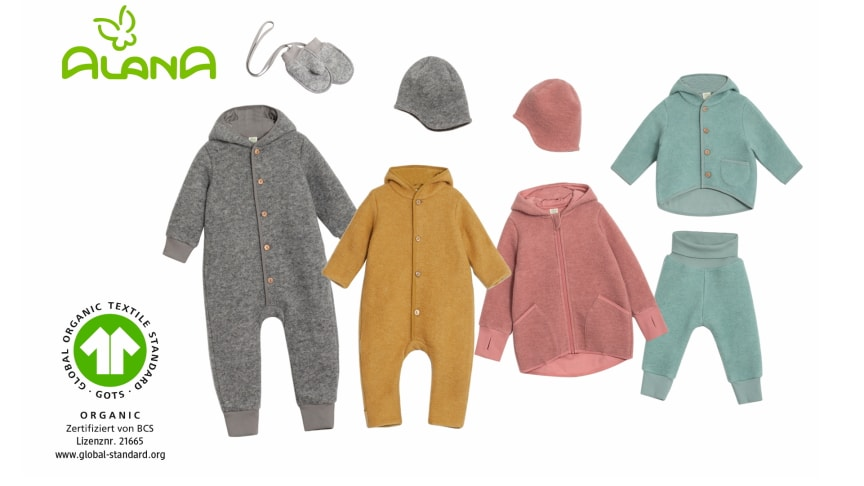 Jetzt neu bei dm: Wollwalk-Kindertextilien in Bio-Qualität von ALANA