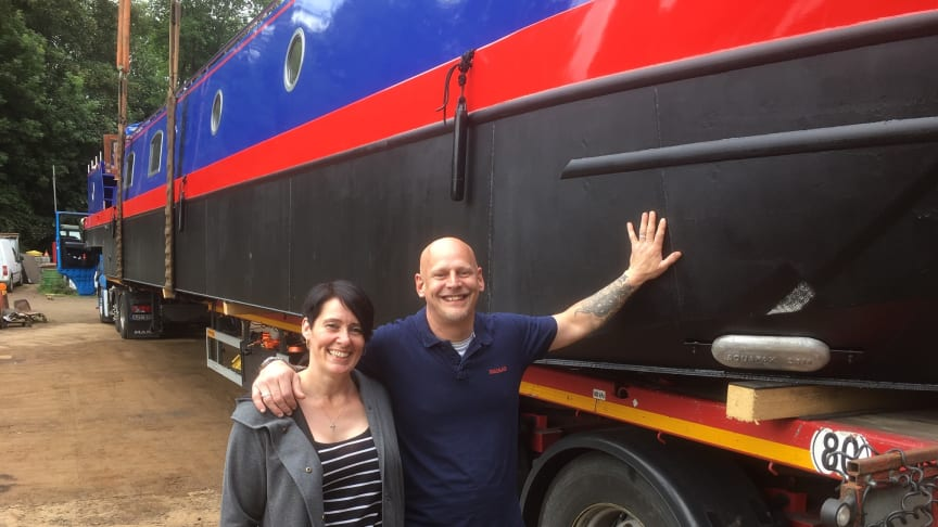 Sacred barge owners Dale and Alison Canfield say they are proud pioneers of electric propulsion