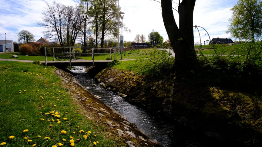Boserupsbäcken, Bjuvs tätort. Foto: Timo Julko