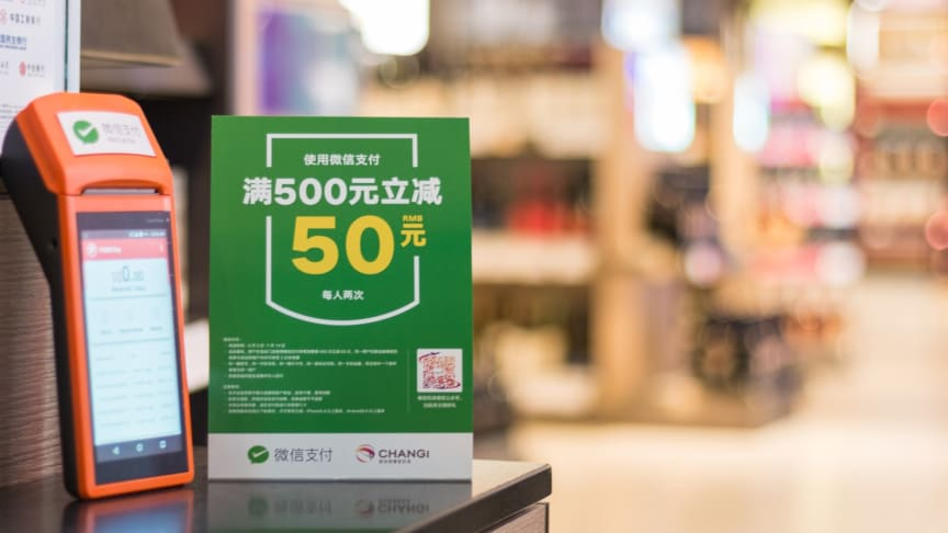 New mobile payment gateway WeChat Pay  launched at Changi Airport