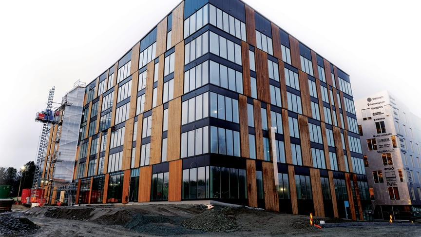 Verdens mest modern kontorbyggeri - og løsuldspræmiere for Veidekke Trondheim