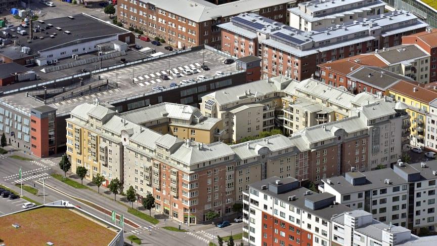 Nyförvärvad fastighet i Halmstad.