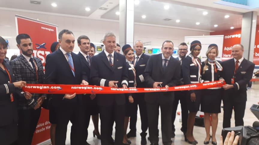 Norwegian ha inaugurado hoy sus vuelos transoceánicos desde Madrid con un lleno total