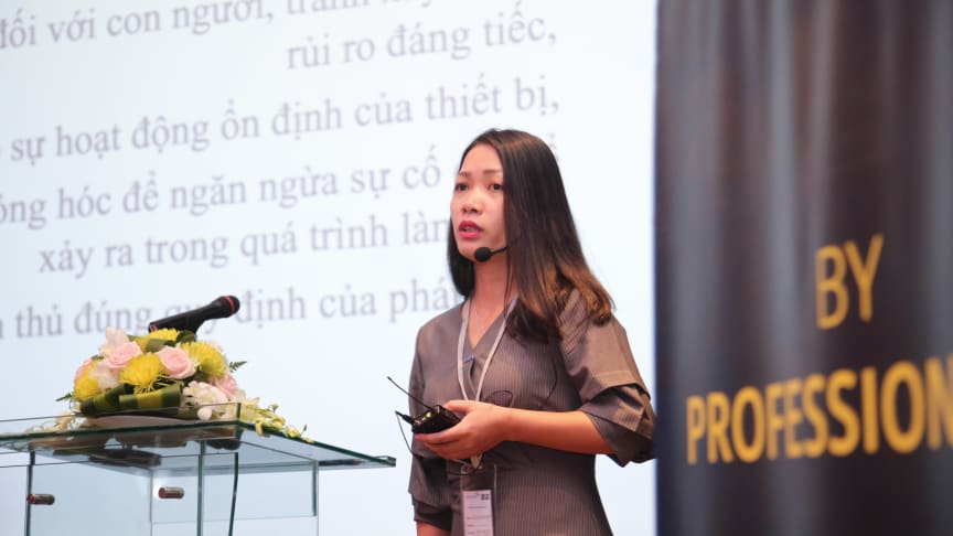 Ms. Vu Thi Hong Hanh, the Vietnamese Standards Department STAMEQ.