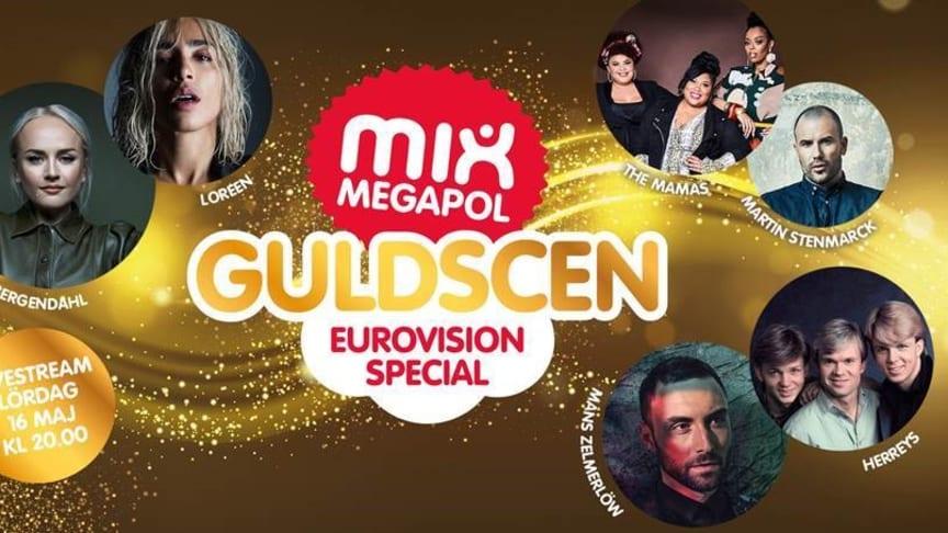 Eurovisionstjärnor på Mix Megapol Guldscen.