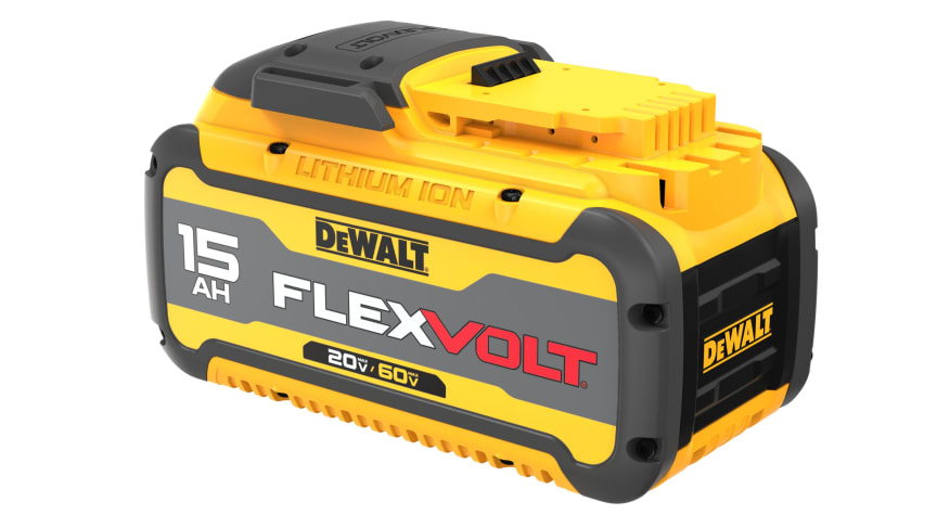 DEWALT® Delivers A New Threshold Of Performance With FLEXVOLT® 20V/60V MAX* 15.0 Ah∆ Battery, The Highest Capacity Lithium Ion Battery In The DEWALT Cordless System