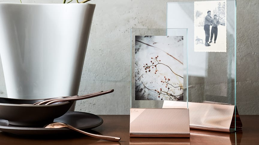"""In modern rosé gold, but also in classical gold or silver: the new Silver Collection picture frames """"Streaked"""" capture beautiful memories in true style."""