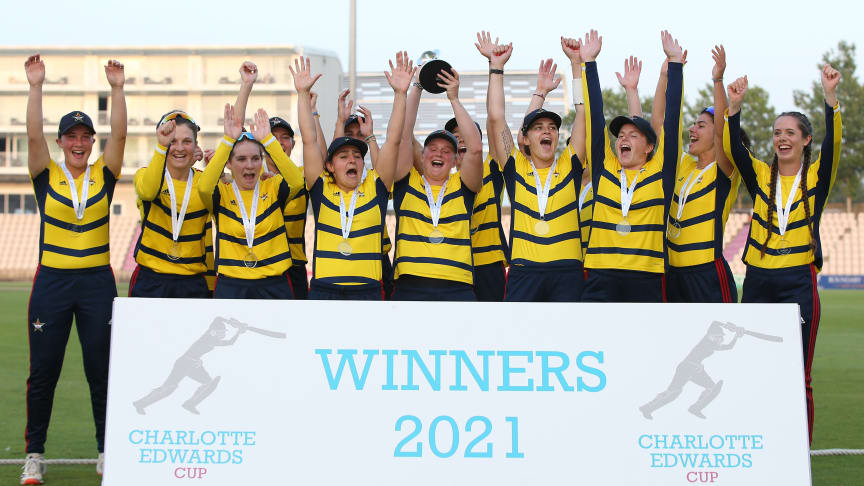 South East Stars win the Charlotte Edwards Cup