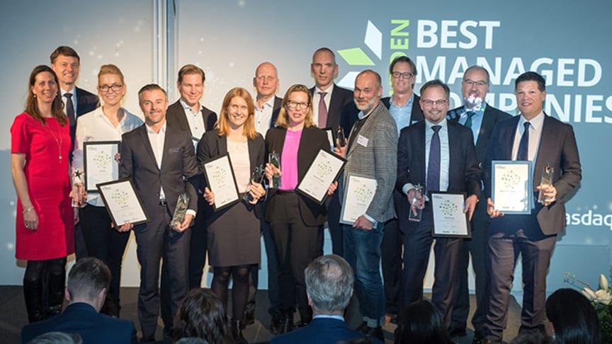 Årets företag fick ta emot utmärkelsen den 14 mars vid ett evenemang på Fotografiska i Stockholm.